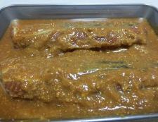 鮭の味噌漬け 調理①