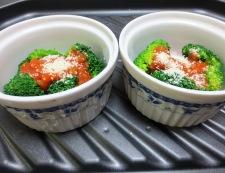 ブロッコリーのミートソース焼き 調理