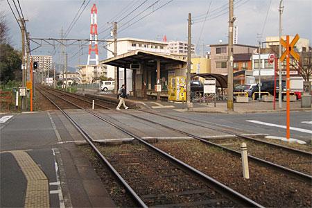 萩原駅の踏切02