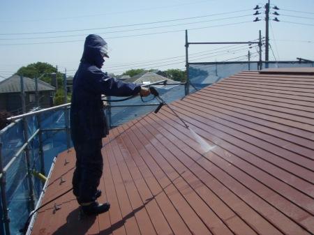 トタン屋根高圧洗浄