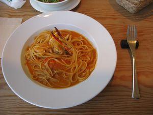 ワタリガニのクリームスープスパゲッティ