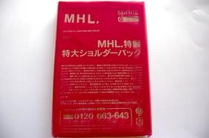 MHL.特製特大ショルダーバッグ【spring12月号特別付録】