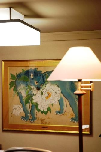 歌舞伎座の青獅子