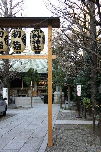 榊神社の境内2011