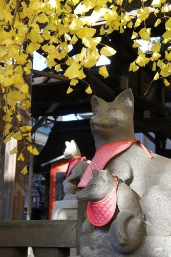 浅草神社裏のおいなりさん