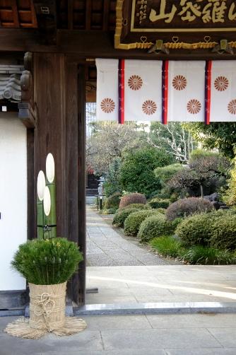 お寺の門松