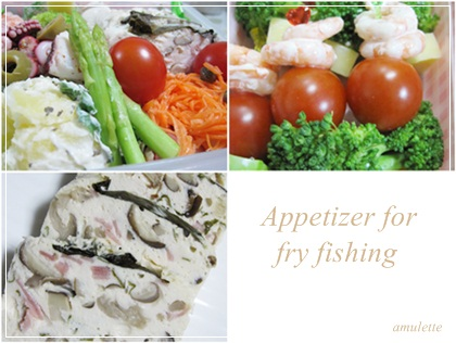 Appetizer for fly fishing