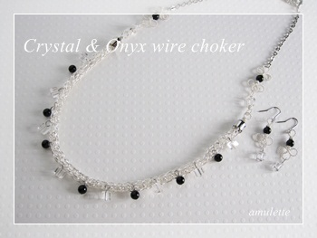 Crystal and Onyx choker