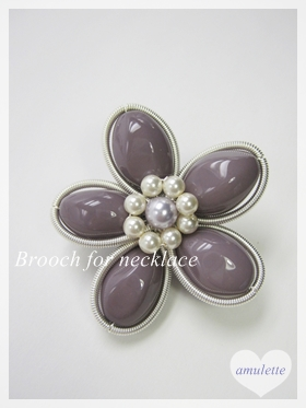 Brooch for necklace