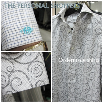 The personal shoppers ordermade shirts