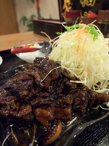 福龍 藤枝店 こま肉定食
