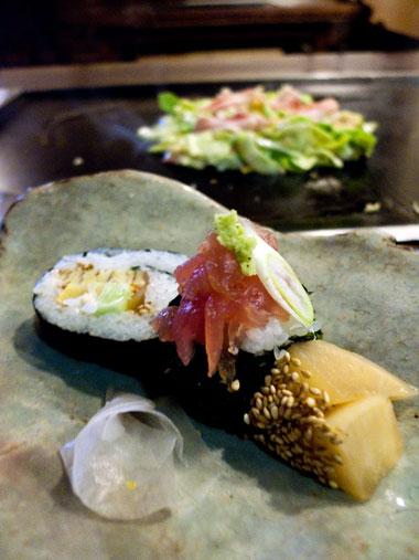 おもいでの家 手巻き寿司