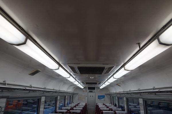 飾り気のない天井