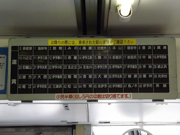 旧型運賃表