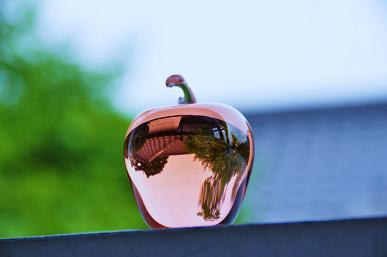 100504 062  ガラスリンゴ