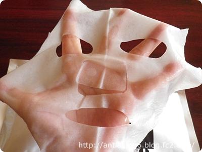 プリュEGFディープモイストマスクを広げたところ