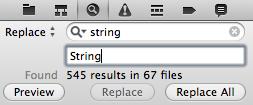 Xcode4置換リスト