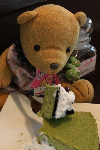 抹茶のチーズケーキを