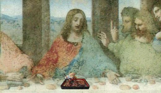 「最後の晩餐」キリスト拡大