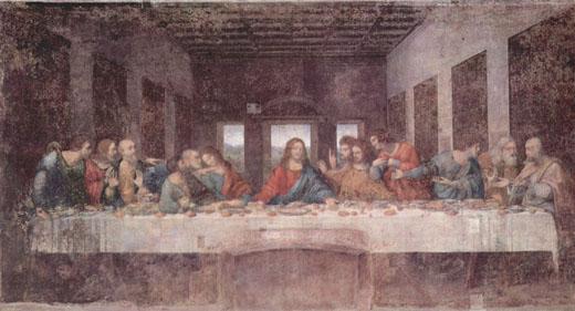 レオナルド「最後の晩餐」修復前