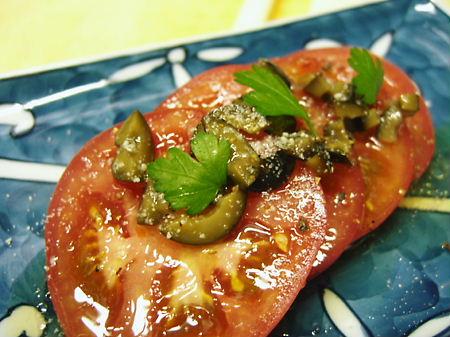 ジューシートマトのオリーブドレッシング♪