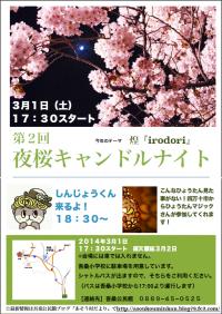 夜桜キャンドルオモテ