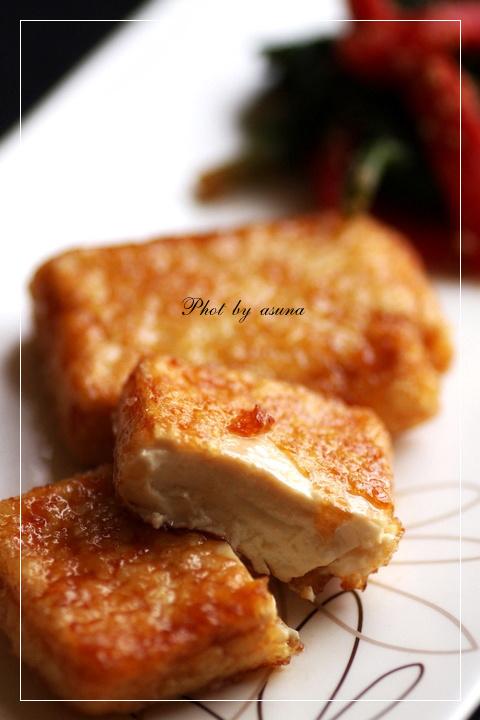 お豆腐の甘辛焼き