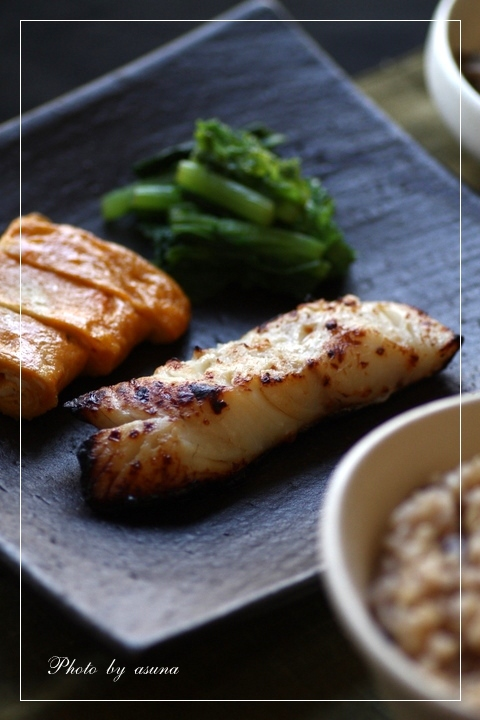 鱈の塩麹漬けと肉豆腐定食