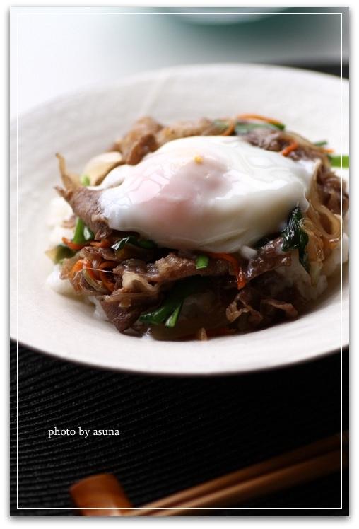 韓国風すき焼き丼