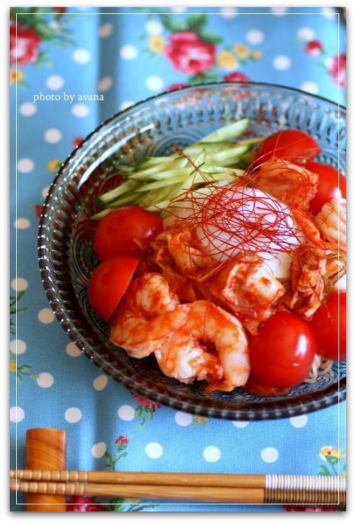 トマト&キムチ素麺