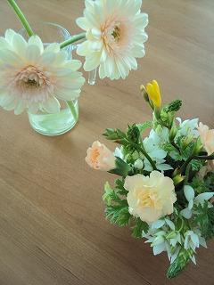 珍しく花。