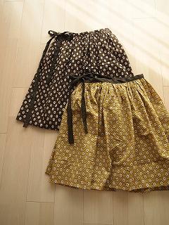 秋のラップスカート