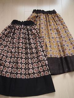 リネン切替えのギャザースカート