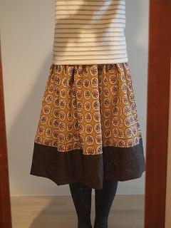 スカート着てみました。マスタード