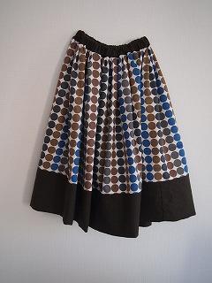 切り替えスカート 北欧っぽい色