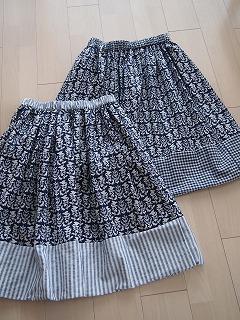 ギャザースカート2枚