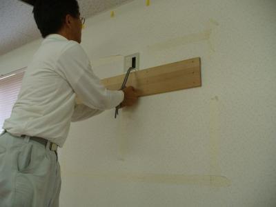 46インチアクオス 壁掛け設置工事 08
