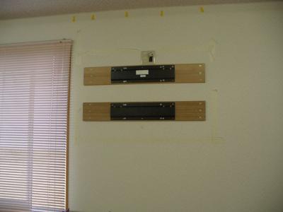 46インチアクオス 壁掛け設置工事 11
