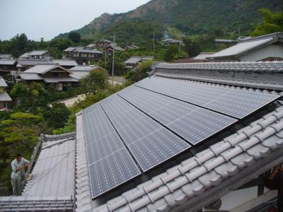 19 SANYO 太陽光ソーラー発電システム 5.04KW(瀬戸田町)