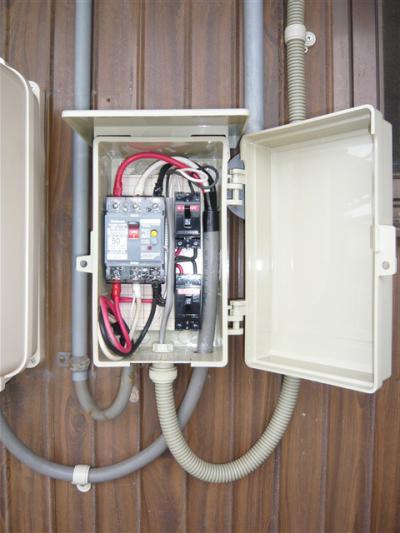オール電化 Y様邸  エコキュート ファミリータイム 電力量計、ブレーカー 2