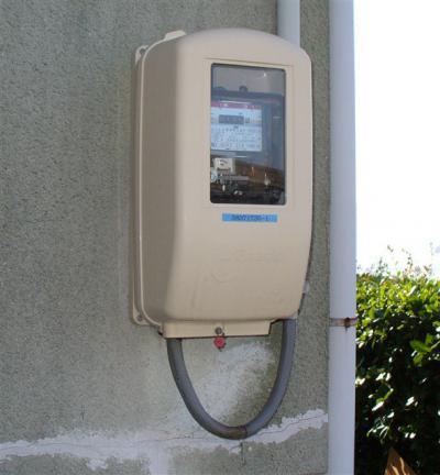 電化前 電力量計器