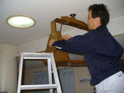 プラズマ天井吊り下げ工事 13