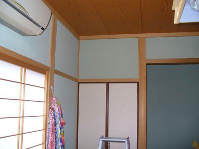 座敷でもおまかせ こだわりの テレビ壁掛け設置工事 01
