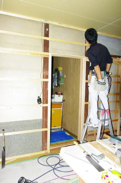 74 生口島 N様邸 リフォーム(タカラキッチン(L型)、クロス張替、床張替、天井張替、額縁塗装) べんりMAN 15