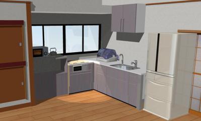 111 生口島 N様邸 リフォーム(タカラキッチン(L型)、クロス張替、床張替、天井張替、額縁塗装) べんりMAN 15