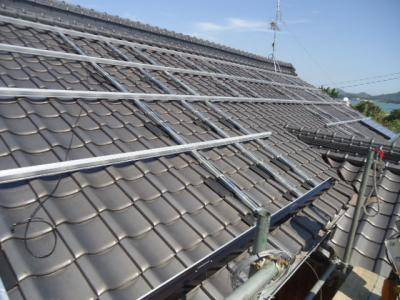 016 生口島 T様邸 京セラ太陽光発電(5.95KW)設置工事 正義の味方 べんりMAN 15
