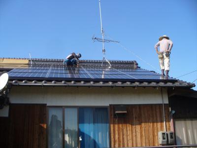 031 生口島 T様邸 京セラ太陽光発電(5.95KW)設置工事 正義の味方 べんりMAN 15