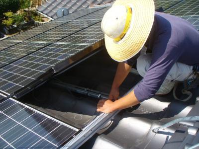 037生口島 T様邸 京セラ太陽光発電(5.95KW)設置工事 正義の味方 べんりMAN 15