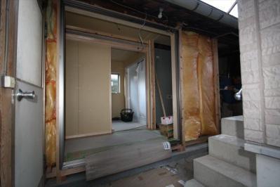 034 生口島 I様邸 ユニットバス松コース タカラスタンダード伸びの美容室(1617)、脱衣場増築リフォーム、複層ガラスサッシ工事  正義の味方 べんりMAN 15