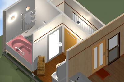 091 生口島 I様邸 ユニットバス松コース タカラスタンダード伸びの美容室(1617)、脱衣場増築リフォーム、複層ガラスサッシ工事  正義の味方 べんりMAN 15
